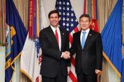 한·미 국방부 장관, 연합방위태세 유지 공약 재확인